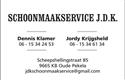 Schoonmaakservice JDK logo